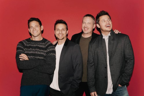 """98 Degrees (""""Give Me Just One Night"""") will perform Oct. 15-16 at America Gardens Theatre at 5:30, 6:45 and 8 p.m. during the 23rd Epcot International Food & Wine Festival """"Eat to the Beat"""" concert series. Performances are included with Epcot admission. (Disney)"""