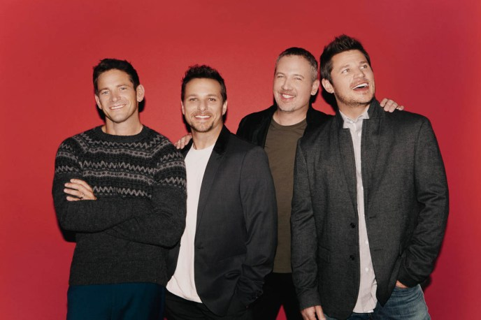 "98 Degrees (""Give Me Just One Night"") will perform Oct. 15-16 at America Gardens Theatre at 5:30, 6:45 and 8 p.m. during the 23rd Epcot International Food & Wine Festival ""Eat to the Beat"" concert series. Performances are included with Epcot admission. (Disney)"