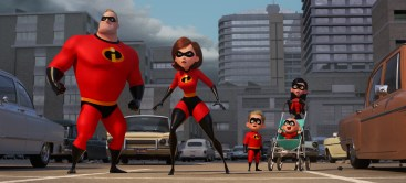 "SUPER FAMILY -- In Disney Pixar's ""Incredibles 2,"" Helen (voice of Holly Hunter) is in the spotlight, while Bob (voice of Craig T. Nelson) navigates the day-to-day heroics of ""normal"" life at home when a new villain hatches a brilliant and dangerous plot that only the Incredibles can overcome together. Also featuring the voices of Sarah Vowell as Violet and Huck Milner as Dash, ""Incredibles 2"" opens in U.S. theaters on June 15, 2018. ©2017 Disney•Pixar. All Rights Reserved."
