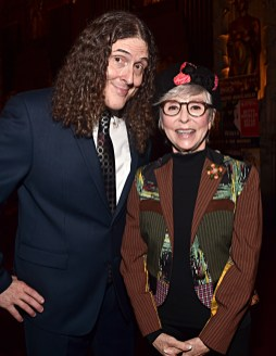 """LOS ANGELES, CALIFORNIA - NOVEMBER 30: """"Weird Al"""" Yankovic (L) and Rita Moreno attend the ceremony honoring Lin-Manuel Miranda with a Star on the Hollywood Walk of Fame on November 30, 2018 in Hollywood, California. (Photo by Alberto E. Rodriguez/Getty Images for Disney)"""