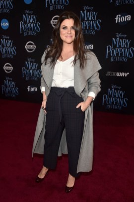 HOLLYWOOD, CA - NOVEMBER 29: Tiffani Thiessen attends Disney's 'Mary Poppins Returns' World Premiere at the Dolby Theatre on November 29, 2018 in Hollywood, California. (Photo by Alberto E. Rodriguez/Getty Images for Disney) *** Local Caption *** Tiffani Thiessen