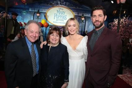 Jeffrey Garten, Ina Garten, Emily Blunt and John Krasinski attend The World Premiere of Disney's Mary Poppins Returns at the Dolby Theatre in Hollywood, CA on Wednesday, November 29, 2018 (Photo: Alex J. Berliner/ABImages)