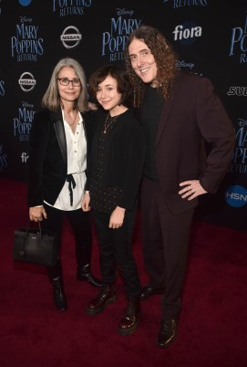 """HOLLYWOOD, CA - NOVEMBER 29: (L-R) Suzanne Yankovic, Nina Yankovic, and """"Weird Al"""" Yankovic attend Disney's 'Mary Poppins Returns' World Premiere at the Dolby Theatre on November 29, 2018 in Hollywood, California. (Photo by Alberto E. Rodriguez/Getty Images for Disney) *** Local Caption *** """"Weird Al"""" Yankovic; Nina Yankovic; Suzanne Yankovic"""