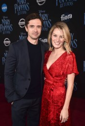 HOLLYWOOD, CA - NOVEMBER 29: Topher Grace (L) and Ashley Hinshaw attend Disney's 'Mary Poppins Returns' World Premiere at the Dolby Theatre on November 29, 2018 in Hollywood, California. (Photo by Alberto E. Rodriguez/Getty Images for Disney) *** Local Caption *** Topher Grace; Ashley Hinshaw