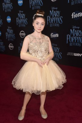 HOLLYWOOD, CA - NOVEMBER 29: Kitana Turnbull attends Disney's 'Mary Poppins Returns' World Premiere at the Dolby Theatre on November 29, 2018 in Hollywood, California. (Photo by Alberto E. Rodriguez/Getty Images for Disney) *** Local Caption *** Kitana Turnbull