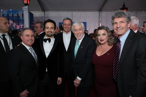 Alan Bergman, Lin-Manuel Miranda, Bob Iger, Dick Van Dyke, Arlene Silver and Alan F. Horn attend The World Premiere of Disney's Mary Poppins Returns at the Dolby Theatre in Hollywood, CA on Wednesday, November 29, 2018 (Photo: Alex J. Berliner/ABImages)