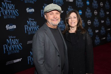 Billy Crystal and Janice Crystal arrive at The World Premiere of Disney's Mary Poppins Returns at the Dolby Theatre in Hollywood, CA on Wednesday, November 29, 2018 (Photo: Alex J. Berliner/ABImages)
