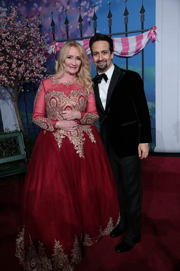 Karen Dotrice and Lin-Manuel Miranda attend The World Premiere of Disney's Mary Poppins Returns at the Dolby Theatre in Hollywood, CA on Wednesday, November 29, 2018 (Photo: Alex J. Berliner/ABImages)