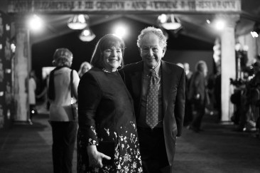 HOLLYWOOD, CA - NOVEMBER 29: (EDITORS NOTE: Image has been shot in black and white. No color version available) Ina Garten (L) and Jeffrey Garten attend Disney's 'Mary Poppins Returns' World Premiere at the Dolby Theatre on November 29, 2018 in Hollywood, California. (Photo by Charley Gallay/Getty Images for Disney) *** Local Caption *** Ina Garten; Jeffrey Garten