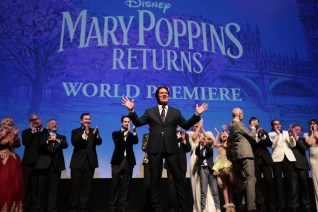 Director Rob Marshall is joined on stage by cast and filmakers at The World Premiere of Disney's Mary Poppins Returns at the Dolby Theatre in Hollywood, CA on Wednesday, November 29, 2018 (Photo: Alex J. Berliner/ABImages)