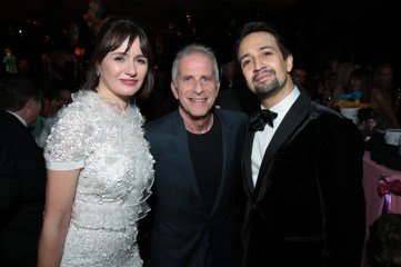 Emily Mortimer, Marc Platt and Lin-Manuel Miranda attend The World Premiere of Disney's Mary Poppins Returns at the Dolby Theatre in Hollywood, CA on Wednesday, November 29, 2018 (Photo: Alex J. Berliner/ABImages)