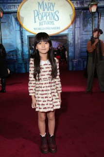 Zooey Miyoshi attends The World Premiere of Disney's Mary Poppins Returns at the Dolby Theatre in Hollywood, CA on Wednesday, November 29, 2018 (Photo: Alex J. Berliner/ABImages)