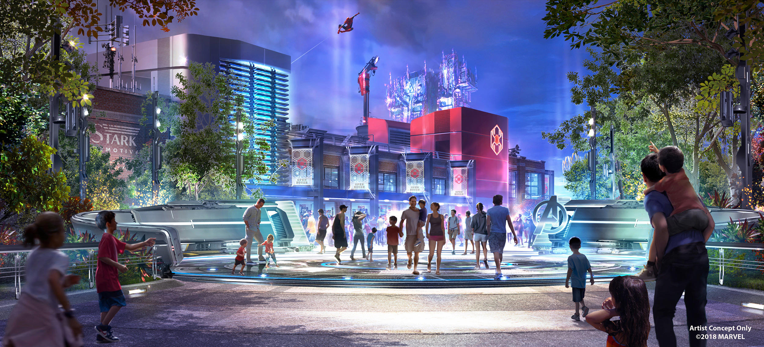 Concept Art for New Spider-Man Attraction at Disney California Adventure Released