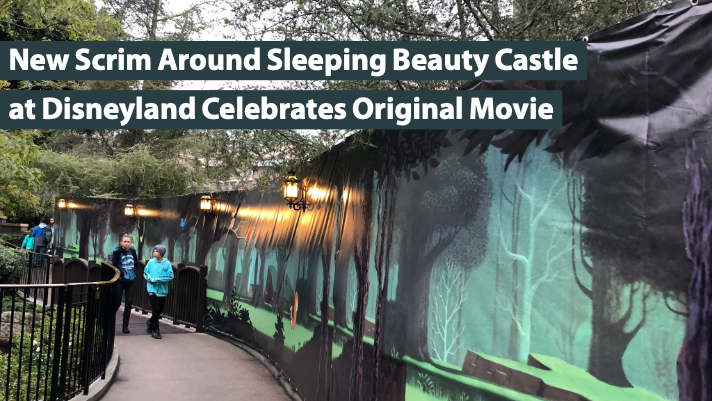 New Scrim Around Sleeping Beauty Castle at Disneyland Celebrates Original Movie