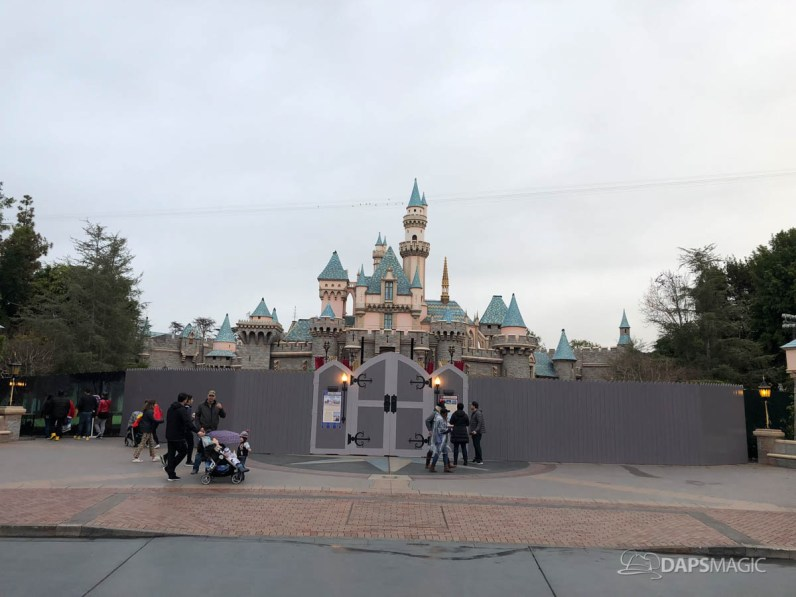 Sleeping Beauty Castle Refurbishment with Scrim 2018 Disneyland