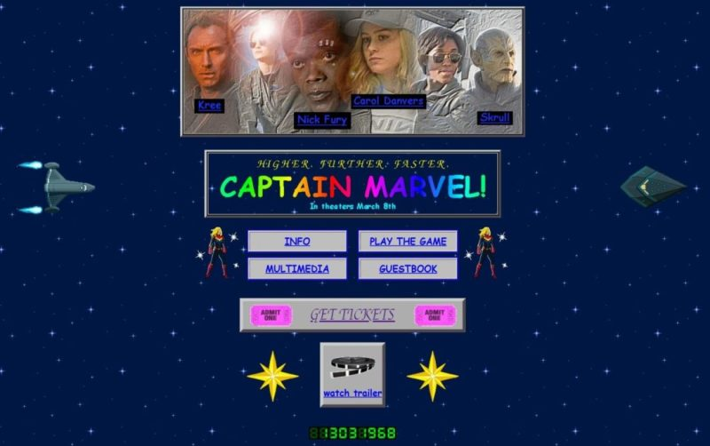 Captain Marvel Website Launches with 1990s Look Ahead of Next Month's Film