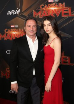"HOLLYWOOD, CA - MARCH 04: (L-R) Executive Producer Louis D'Esposito and Bronte D'Esposito attend the Los Angeles World Premiere of Marvel Studios' ""Captain Marvel"" at Dolby Theatre on March 4, 2019 in Hollywood, California. (Photo by Jesse Grant/Getty Images for Disney) *** Local Caption *** Bronte D'Esposito; Louis D'Esposito"