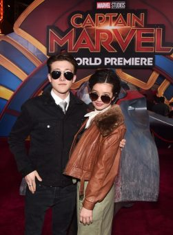 "HOLLYWOOD, CA - MARCH 04: (L-R) Luke Mellon and Peyton Elizabeth Lee attend the Los Angeles World Premiere of Marvel Studios' ""Captain Marvel"" at Dolby Theatre on March 4, 2019 in Hollywood, California. (Photo by Alberto E. Rodriguez/Getty Images for Disney) *** Local Caption *** Peyton Elizabeth Lee; Luke Mellon"