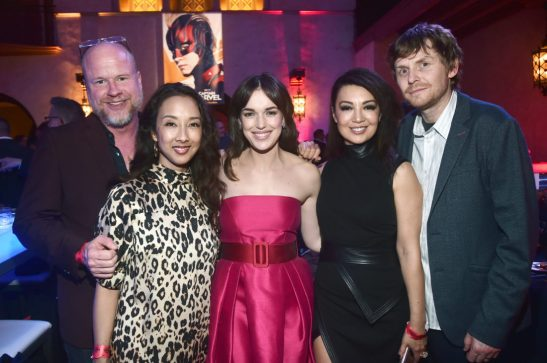 "HOLLYWOOD, CA - MARCH 04: (L-R) Joss Whedon, guest, Elizabeth Henstridge, Ming-Na Wen, and guest attend the Los Angeles World Premiere of Marvel Studios' ""Captain Marvel"" at Dolby Theatre on March 4, 2019 in Hollywood, California. (Photo by Alberto E. Rodriguez/Getty Images for Disney) *** Local Caption *** Joss Whedon"