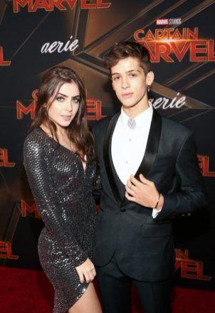 "HOLLYWOOD, CA - MARCH 04: (L-R) Jade Picon and Joao Guilherme attend the Los Angeles World Premiere of Marvel Studios' ""Captain Marvel"" at Dolby Theatre on March 4, 2019 in Hollywood, California. (Photo by Jesse Grant/Getty Images for Disney) *** Local Caption *** Joao Guilherme; Jade Picon"
