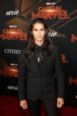 "HOLLYWOOD, CA - MARCH 04: Actor Booboo Stewart attends the Los Angeles World Premiere of Marvel Studios' ""Captain Marvel"" at Dolby Theatre on March 4, 2019 in Hollywood, California. (Photo by Jesse Grant/Getty Images for Disney) *** Local Caption *** Booboo Stewart"