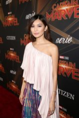 "HOLLYWOOD, CA - MARCH 04: Actor Gemma Chan attends the Los Angeles World Premiere of Marvel Studios' ""Captain Marvel"" at Dolby Theatre on March 4, 2019 in Hollywood, California. (Photo by Jesse Grant/Getty Images for Disney) *** Local Caption *** Gemma Chan"