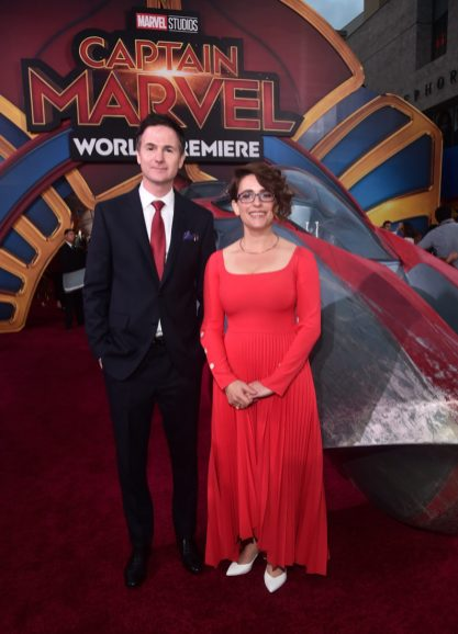 "HOLLYWOOD, CA - MARCH 04: (L-R) Directors/writers Ryan Fleck and Anna Boden attend the Los Angeles World Premiere of Marvel Studios' ""Captain Marvel"" at Dolby Theatre on March 4, 2019 in Hollywood, California. (Photo by Alberto E. Rodriguez/Getty Images for Disney) *** Local Caption *** Ryan Fleck; Anna Boden"