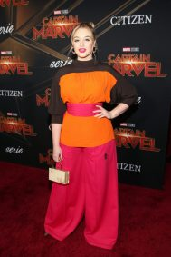 "HOLLYWOOD, CA - MARCH 04: Model Iskra Lawrence attends the Los Angeles World Premiere of Marvel Studios' ""Captain Marvel"" at Dolby Theatre on March 4, 2019 in Hollywood, California. (Photo by Jesse Grant/Getty Images for Disney) *** Local Caption *** Iskra Lawrence"