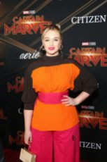 """HOLLYWOOD, CA - MARCH 04: Model Iskra Lawrence attends the Los Angeles World Premiere of Marvel Studios' """"Captain Marvel"""" at Dolby Theatre on March 4, 2019 in Hollywood, California. (Photo by Jesse Grant/Getty Images for Disney) *** Local Caption *** Iskra Lawrence"""