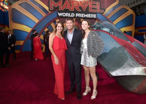 "HOLLYWOOD, CA - MARCH 04: (L-R) Joy Creel, illustrater Rob Liefeld, and Olivia Liefeld attend the Los Angeles World Premiere of Marvel Studios' ""Captain Marvel"" at Dolby Theatre on March 4, 2019 in Hollywood, California. (Photo by Alberto E. Rodriguez/Getty Images for Disney) *** Local Caption *** Rob Liefeld; Joy Creel; Olivia Liefeld"
