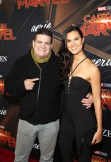 """HOLLYWOOD, CA - MARCH 04: (L-R) Rigan Machado and Cesalina Gracie attend the Los Angeles World Premiere of Marvel Studios' """"Captain Marvel"""" at Dolby Theatre on March 4, 2019 in Hollywood, California. (Photo by Jesse Grant/Getty Images for Disney) *** Local Caption *** Cesalina Gracie; Rigan Machado"""