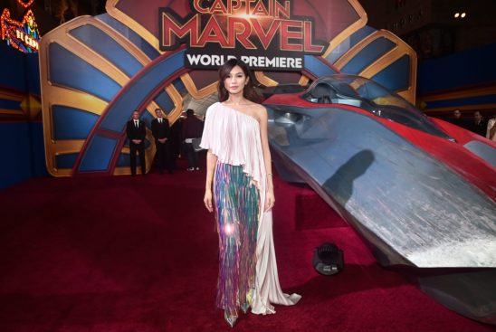 """HOLLYWOOD, CA - MARCH 04: Actor Gemma Chan attends the Los Angeles World Premiere of Marvel Studios' """"Captain Marvel"""" at Dolby Theatre on March 4, 2019 in Hollywood, California. (Photo by Alberto E. Rodriguez/Getty Images for Disney) *** Local Caption *** Gemma Chan"""