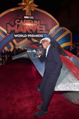 """HOLLYWOOD, CA - MARCH 04: Actor Samuel L. Jackson attends the Los Angeles World Premiere of Marvel Studios' """"Captain Marvel"""" at Dolby Theatre on March 4, 2019 in Hollywood, California. (Photo by Alberto E. Rodriguez/Getty Images for Disney) *** Local Caption *** Samuel L. Jackson"""