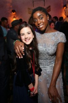 "HOLLYWOOD, CA - MARCH 04: (L-R) Actors Abby Ryder Fortson and Lashana Lynch attend the Los Angeles World Premiere of Marvel Studios' ""Captain Marvel"" at Dolby Theatre on March 4, 2019 in Hollywood, California. (Photo by Jesse Grant/Getty Images for Disney) *** Local Caption *** Lashana Lynch; Abby Ryder Fortson"