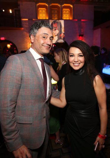 """HOLLYWOOD, CA - MARCH 04: (L-R) Director Taika Waititi and actor Ming-Na Wen attend the Los Angeles World Premiere of Marvel Studios' """"Captain Marvel"""" at Dolby Theatre on March 4, 2019 in Hollywood, California. (Photo by Jesse Grant/Getty Images for Disney) *** Local Caption *** Ming-Na Wen; Taika Waititi"""