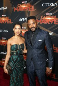 """HOLLYWOOD, CA - MARCH 04: Singer Dominique Tipper (L) and actor Duane Henry attend the Los Angeles World Premiere of Marvel Studios' """"Captain Marvel"""" at Dolby Theatre on March 4, 2019 in Hollywood, California. (Photo by Jesse Grant/Getty Images for Disney) *** Local Caption *** Dominique Tipper; Duane Henry"""