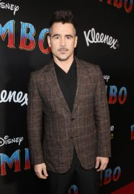 "LOS ANGELES, CA - MARCH 11: Actor Colin Farrell attends the World Premiere of Disney's ""Dumbo"" at the El Capitan Theatre on March 11, 2019 in Los Angeles, California. (Photo by Jesse Grant/Getty Images for Disney) *** Local Caption *** Colin Farrell"