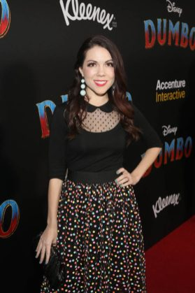 "LOS ANGELES, CA - MARCH 11: Jenny Lorenzo attends the World Premiere of Disney's ""Dumbo"" at the El Capitan Theatre on March 11, 2019 in Los Angeles, California. (Photo by Jesse Grant/Getty Images for Disney) *** Local Caption *** Jenny Lorenzo"