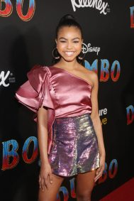 "LOS ANGELES, CA - MARCH 11: Navia Robinson attends the World Premiere of Disney's ""Dumbo"" at the El Capitan Theatre on March 11, 2019 in Los Angeles, California. (Photo by Jesse Grant/Getty Images for Disney) *** Local Caption *** Navia Robinson"