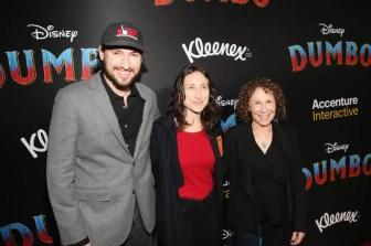 "LOS ANGELES, CA - MARCH 11: (R-L) Rhea Perlman, Grace Fan DeVito and guest attend the World Premiere of Disney's ""Dumbo"" at the El Capitan Theatre on March 11, 2019 in Los Angeles, California. (Photo by Jesse Grant/Getty Images for Disney) *** Local Caption *** Rhea Perlman; Grace Fan DeVito"