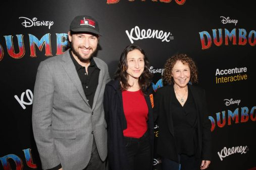 "LOS ANGELES, CA - MARCH 11: (R-L) Rhea Perlman, Grace Fan DeVito and guest attend the World Premiere of Disney's ""Dumbo"" at the El Capitan Theatre on March 11, 2019 in Los Angeles, California. (Photo by Jesse Grant/Getty Images for Disney) *** Local Caption *** Rhea Perlman; Grace Fan DeVito"