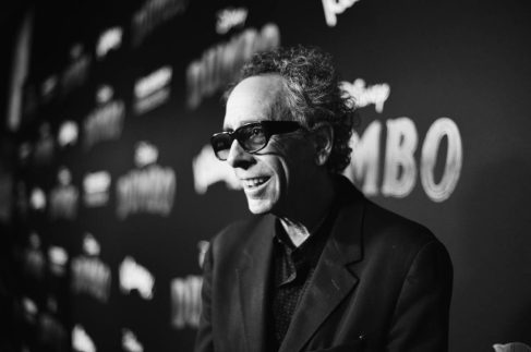 "LOS ANGELES, CA - MARCH 11: (EDITORS NOTE: Image has been shot in black and white. No color version available) Director/executive producer Tim Burton attends the World Premiere of Disney's ""Dumbo"" at the El Capitan Theatre on March 11, 2019 in Los Angeles, California. (Photo by Charley Gallay/Getty Images for Disney) *** Local Caption *** Tim Burton"
