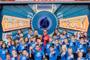 Universe Unites - Global Day of Play - Amazon Treasure Truck - Downtown Disney - Robert Downey, Jr. - Marvel - Avengers: End Game - Disneyland Resort - 4/5/19. (Joshua Sudock/Disneyland Resort)