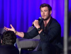 """LOS ANGELES, CA - APRIL 07: Chris Hemsworth speaks onstage during Marvel Studios' """"Avengers: Endgame"""" Global Junket Press Conference at the InterContinental Los Angeles Downtown on April 7, 2019 in Los Angeles, California. (Photo by Alberto E. Rodriguez/Getty Images for Disney) *** Local Caption *** Chris Hemsworth"""