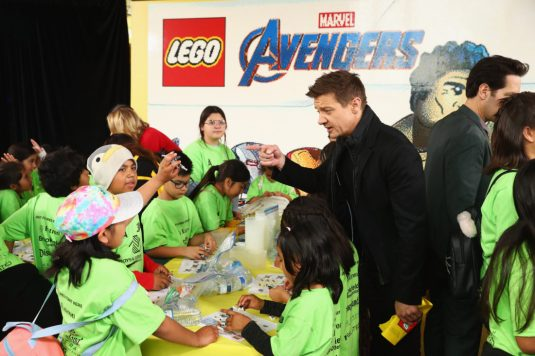 ANAHEIM, CA - APRIL 05: Jeremy Renner attends Avengers Universe Unites, a charity event to celebrate the donation of more than $5 million in cash and toys to nonprofits supporting children with critical illnesses, at Disney California Adventure Park on April 5, 2019 in Anaheim, California. (Photo by Joe Scarnici/Getty Images for Disney) *** Local Caption *** Jeremy Renner