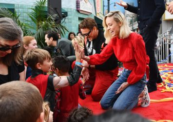 ANAHEIM, CA - APRIL 05: (L-R) Paul Rudd, Scarlett Johansson, Robert Downey Jr. and Brie Larson attend Avengers Universe Unites, a charity event to celebrate the donation of more than $5 million in cash and toys to nonprofits supporting children with critical illnesses, at Disney California Adventure Park on April 5, 2019 in Anaheim, California. (Photo by Emma McIntyre/Getty Images for Disney) *** Local Caption *** Jeremy Renner; Chris Hemsworth; Brie Larson; Paul Rudd