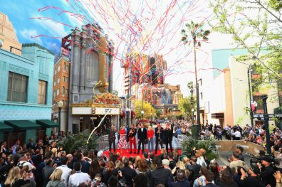 ANAHEIM, CA - APRIL 05: (L-R) Paul Rudd, Scarlett Johansson, Robert Downey Jr., The Walt Disney Company Chairman and CEO Bob Iger, Brie Larson, Chris Hemsworth and Jeremy Renner attend Avengers Universe Unites, a charity event to celebrate the donation of more than $5 million in cash and toys to nonprofits supporting children with critical illnesses, at Disney California Adventure Park on April 5, 2019 in Anaheim, California. (Photo by Joe Scarnici/Getty Images for Disney) *** Local Caption *** Paul Rudd; Scarlett Johansson; Robert Downey Jr.; Brie Larson; Chris Hemsworth; Jeremy Renner; Bob Iger
