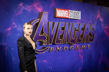 Scarlett Johansson attends the UK Fan Event to celebrate the release of Marvel Studios' 'Avengers: Endgame' at Picturehouse Central on April 10, 2019 in London, England.