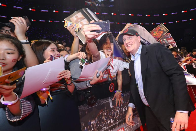 Kevin Feige at the Avengers Endgame China Fan Event Red Carpet