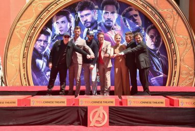AVENGERS- ENDGAME Handprints at Chinese Theatre-30